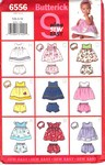 Butterick 6556 Infants Dress Panties Headband Pattern