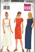 Butterick 6586 Simple Dress Pattern UNCUT