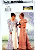 Butterick B6630 Regency Gown Costume Pattern NEW