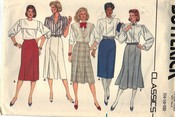 Butterick 6635 Misses Skirt Pattern Large UNCUT