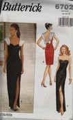 Butterick 6702 Strapless Evening Gown Pattern UNCUT