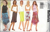 Butterick 6944 Misses Modern Skirt Pattern