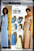 Butterick P138 Elegant Top Skirt Wedding UNCUT