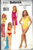 Butterick P443 Kathy Ireland Swimsuit Pattern UNCUT