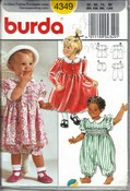 Burda 4349 Toddler Dress Pattern UNCUT