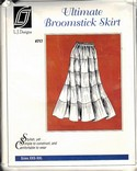 L J Designs Broomstick Skirt Pattern 717 Uncut