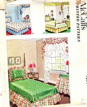 McCalls 1630 Vintage Pattern Coverlet Shams UNCUT