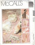 McCalls 2058 Bridal Accessories Pattern UNCUT