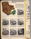 McCalls 207-A Vintage Chair Slip Cover Pattern UNCUT