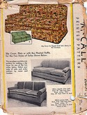 McCalls 208-A Vintage Slipcover Pattern English Club Sofa
