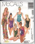 McCalls 2221 Size 16 One Piece Swimsuit Pattern UNCUT
