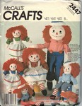 McCalls 2447 Raggedy Ann Andy Doll Pattern UNCUT