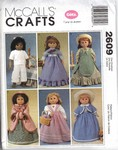 McCalls 2609 Gotz Doll Clothes Pattern UNCUT
