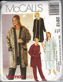 McCall's 2912 KK Jacket Separates Pattern XL UNCUT
