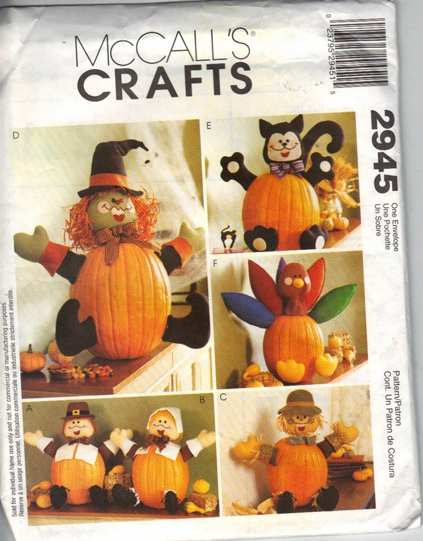 McCALLS 2945 Pumpkin Pokes Craft Pattern UNCUT
