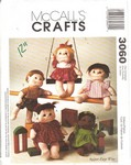 McCalls 3060 Soft Doll Pattern UNCUT