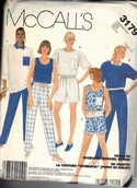 McCall's 3179 Serger Sewing Separate Pattern UNCUT