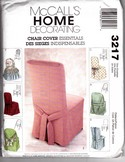 McCalls 3217 Chair Cover Sewing Pattern UNCUT