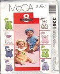 McCalls 3261 Infant Romper and Hat Pattern UNCUT