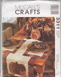 McCalls 3311 Thanksgiving Craft Patttern UNCUT