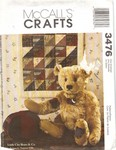 McCalls 3476 Jointed Bear Pattern UNCUT