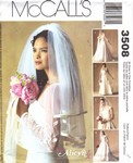 McCalls 3508 Wedding Veil Pattern UNCUT