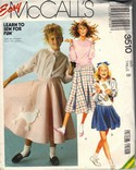 McCall's 3510 Poodle Skirt Costume Pattern UNCUT