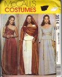McCall's 3514 Greek Roman Goddess Costume Pattern Uncut