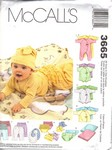 McCalls 3665 Infant Clothing Pattern UNCUT