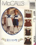 McCalls 4617 Size 3 Kitty Benton Sewing Pattern UNCUT