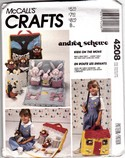 McCalls 4208 Doll Carry House Stuffed Animals Pattern