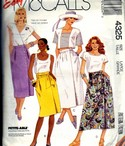 McCalls 4325 Wrap Skirt Sewing Pattern UNCUT