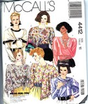 McCalls 4412 Blouse and Scarf Sewing Pattern UNCUT