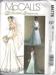 McCalls 4776 Bridal Gown Shrug Pattern DD Lrg UNCUT