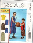 McCalls 4820 Boys T-Shirt Shorts Pattern UNCUT