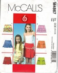 McCalls 4867 Girls Skirt Pattern UNCUT