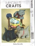 McCalls 4893 Calico Pets Pattern UNCUT