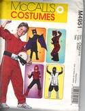 McCalls 4951 Boys Action Figure Costume Pattern UNCUT