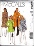 McCalls 5060 Coat Pattern UNCUT