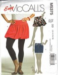 McCalls 5375 Short Skirt Pattern UNCUT