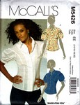 McCalls 5462 Sophiscated Blouse Pattern UNCUT