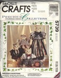 McCall's 5739 Cat Family Soft Doll Pattern UNCUT