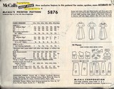 McCalls 5876 Vintage 1962 Dress Pattern Uncut LARGE