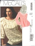McCalls 5930 Y Pretty Pullover Top Pattern UNCUT