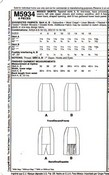 McCalls 5934 AX5 Slim Pencil Skirt Pattern UNCUT