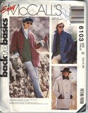 McCall's 6103 Unlined Jacket Pattern UNCUT