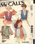 McCalls 6356 Reversible Vest Sewing Pattern