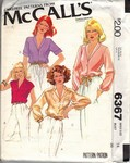 McCalls 6367 Set of Blouses Sewing Pattern