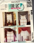 McCalls 649 Curtain Swag Valance Pattern UNCUT