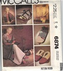 McCalls 6874 Lap Robe Slipper Pattern UNCUT